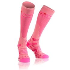 Compressport nogavice Full Socks V2.1, 3M, roza