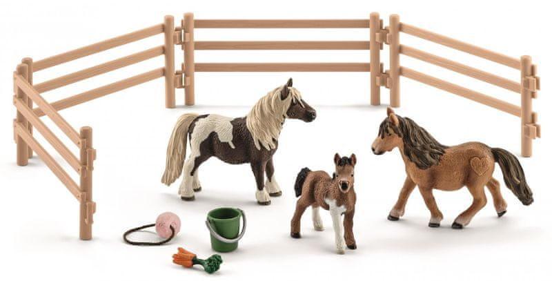 Schleich Rodina Shetlandských poníků na pastvě