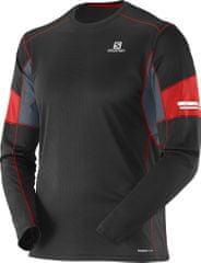 Salomon moška športna majica Agile Ls Tee M, črna