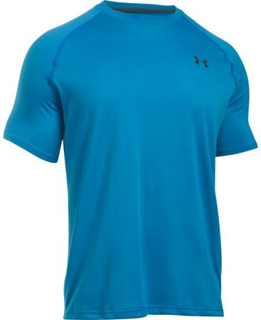 Under Armour Tech SS Tee Brilliant Blue Stealth Gray L