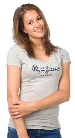 Pepe Jeans ženska majica Miranda XS siva