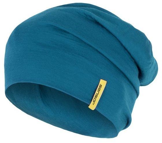Sensor Čepice Merino Wool M modrá