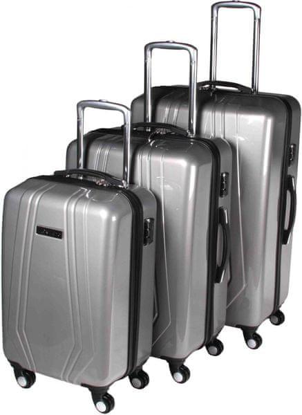 Leonardo Sada kufrů Trolley červená - II. jakost