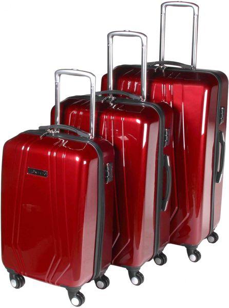 Leonardo Sada kufrů Trolley červená
