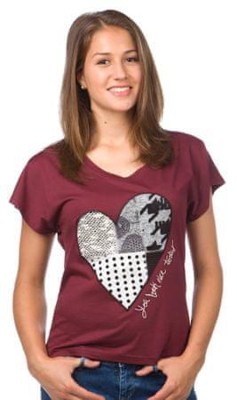 Desigual ženska majica M bordo rdeča