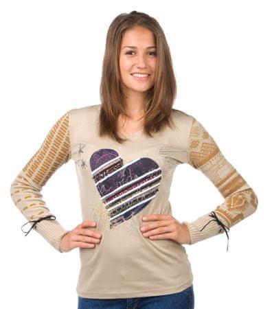Desigual sweter damski S beżowy