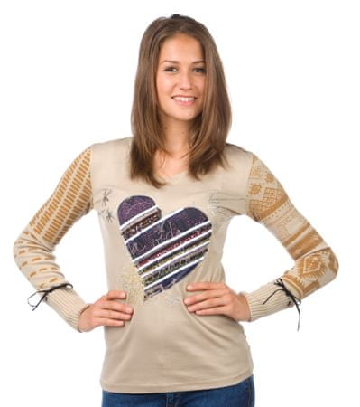 Desigual dámský svetr XS béžová