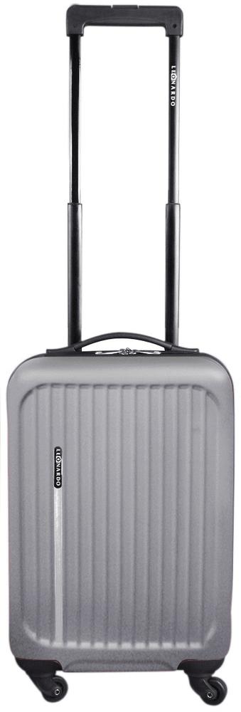 Leonardo Palubní kufr Trolley Premium stříbrná