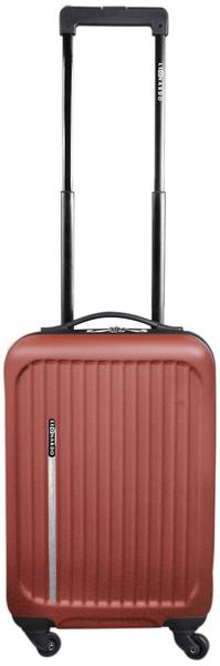 Leonardo Palubní kufr Trolley Premium červeno-hnědá