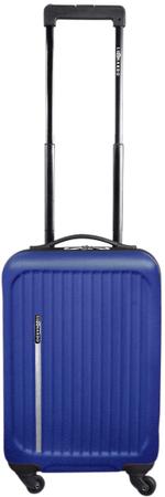Leonardo Palubní kufr Trolley Premium, modrý - rozbaleno