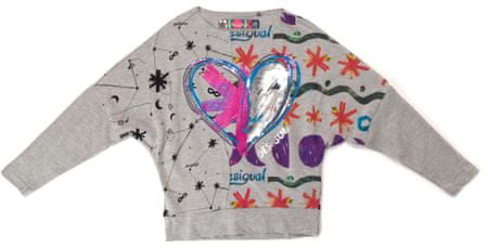 Desigual dívčí tričko 152 šedá
