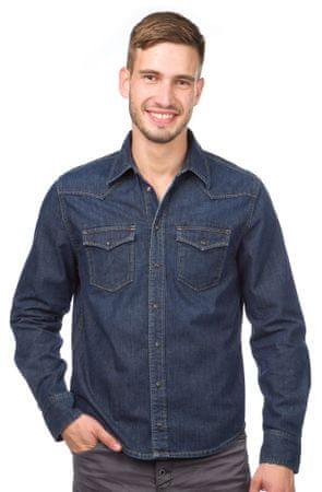 Pepe Jeans pánská jeansová košile Carson M modrá