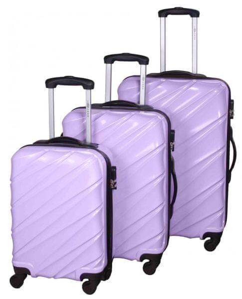 Leonardo Sada kufrů Shine fialová