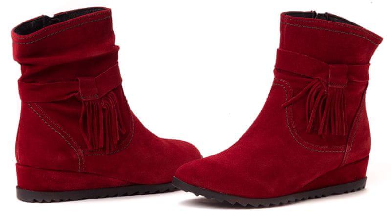 Tamaris dámská kotníčková obuv 39 červená