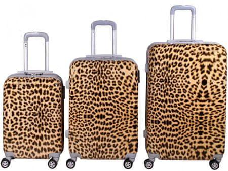 Leonardo Zestaw walizek Leopard Print