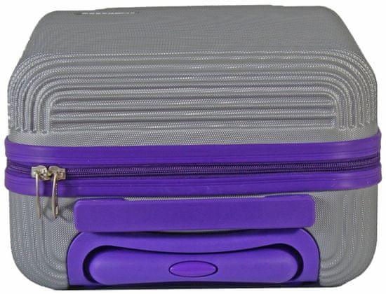 Leonardo Palubní kufr Duo Color stříbrná