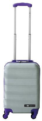 Leonardo kabinski kovček Duo Color, srebrn/vijoličen