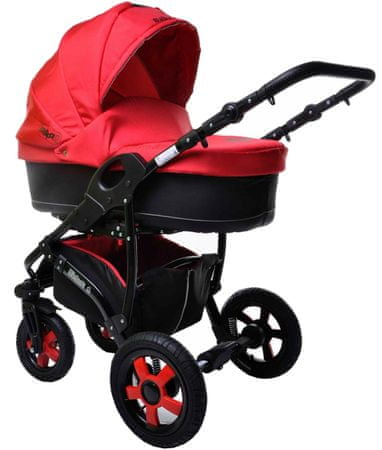 Sun Baby Kombinovaný kočárek 2v1 Ibiza, červený