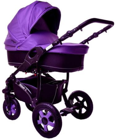 Sun Baby Kombinovaný kočárek 2v1 Ibiza, fialový
