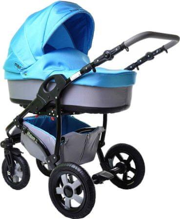 Sun Baby Kombinovaný kočárek 2v1 Ibiza, modrý