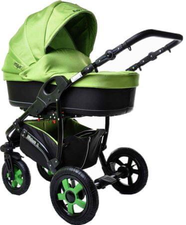 Sun Baby Kombinovaný kočárek 2v1 Ibiza, zelený