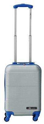 Leonardo kabinski kovček Duo Color, srebrn/moder