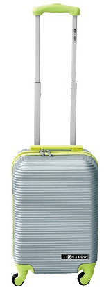 Leonardo kabinski kovček Duo Color, srebrn/zelen