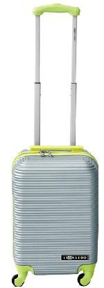 Leonardo Palubní kufr Duo Color stříbrná-zelená