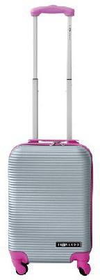 Leonardo kabinski kovček Duo Color, srebrna/roza