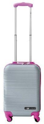 Leonardo Palubní kufr Duo Color stříbrná-růžová