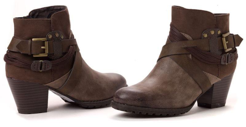 s.Oliver dámská kotníčková obuv 39 hnědá