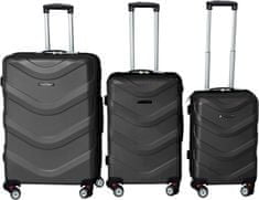 Leonardo Sada kufrov ABS, čierna
