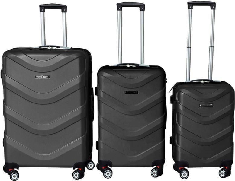 Leonardo Sada kufrů ABS černá