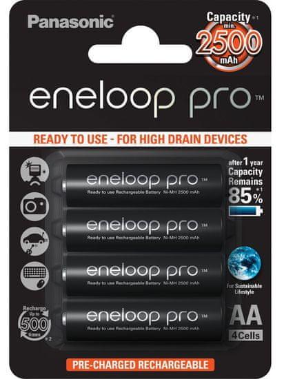 Panasonic baterije Eneloop Pro AA (4 kom)