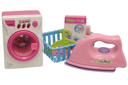 Unikatoy pralni stroj + likalnik, set (24467)