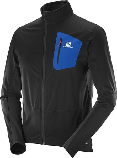 Salomon Equipe Softshell Jkt M Black/Blue Yonder S