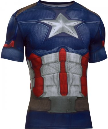 Under Armour majica Captain America Suit SS, rdeča/modra, XL
