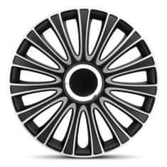 """AutoStyle pokrovi platišč LeMans Black/Silver 15"""""""