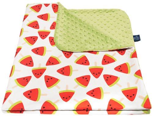 CuddlyZOO Dětská deka bez výplně - meloun/zelená