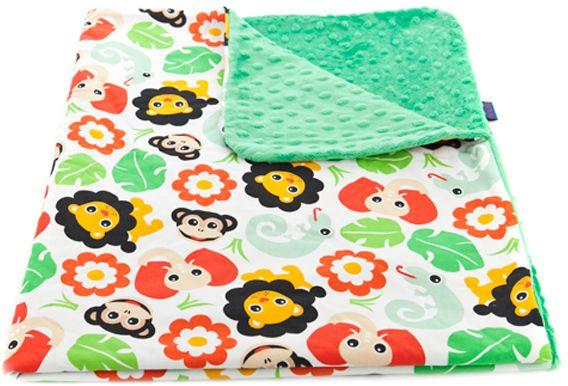 CuddlyZOO Dětská deka bez výplně - safari/zelená