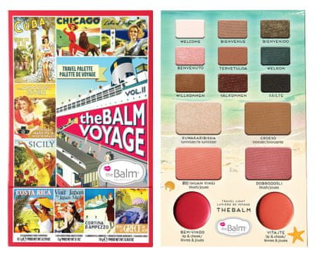 theBalm paleta do makijażu Balm Voyage Vol.2 - 21,1 g
