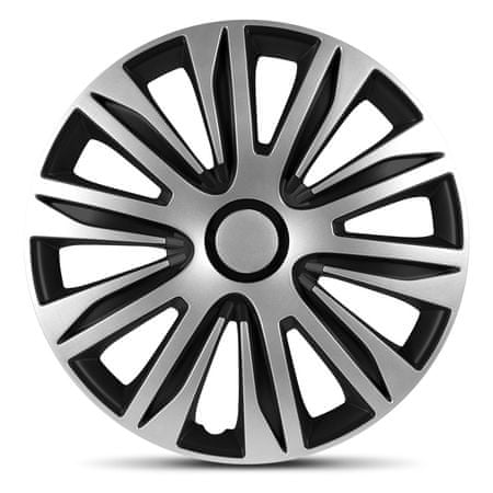 "AutoStyle pokrovi platišč Nardo Black / Silver 16"" - odprta embalaža"
