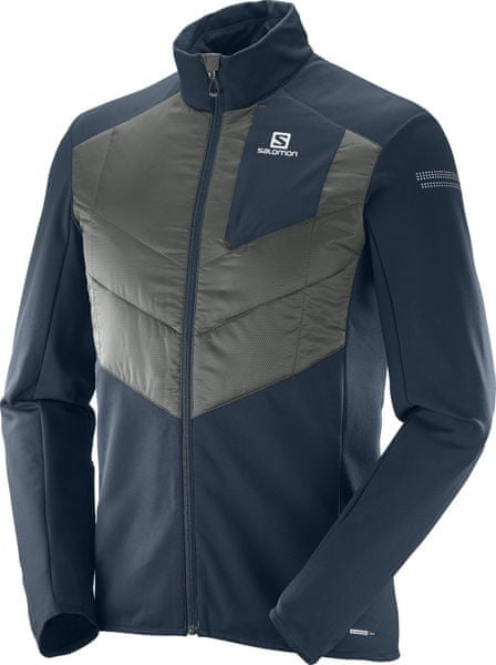 Salomon Park Warm Jkt M Big Blue-X/Asphalt M