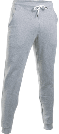 Under Armour hlače Storm Rival Cotton Jogger, moške, sive, M