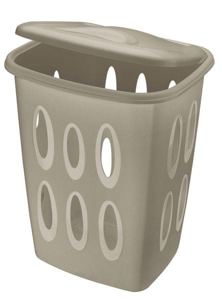 Tontarelli Koš na špinavé prádlo s otvory 45 l šedá