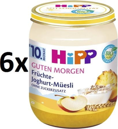 HiPP BIO Müsli, ovocie a jogurt - 6 x 160g