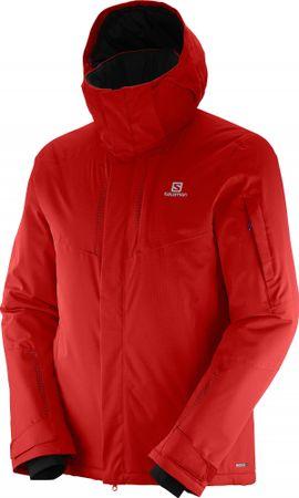 Salomon moška smučarska jakna Stormspotter, rdeča, S