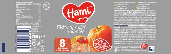 Hami Cestoviny s tekvicou a kuracím mäsom - 6 x 200g
