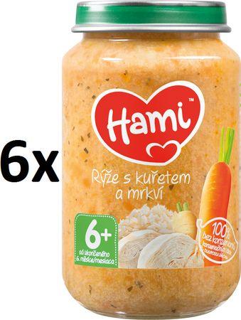 Hami Rýže s kuřetem a mrkví - 6 x 200g