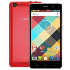 Cubot mobilni telefon Rainbow DualSim, crveni + poklon: etui